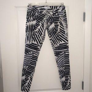 Express Zebra-print Ankle Jeans